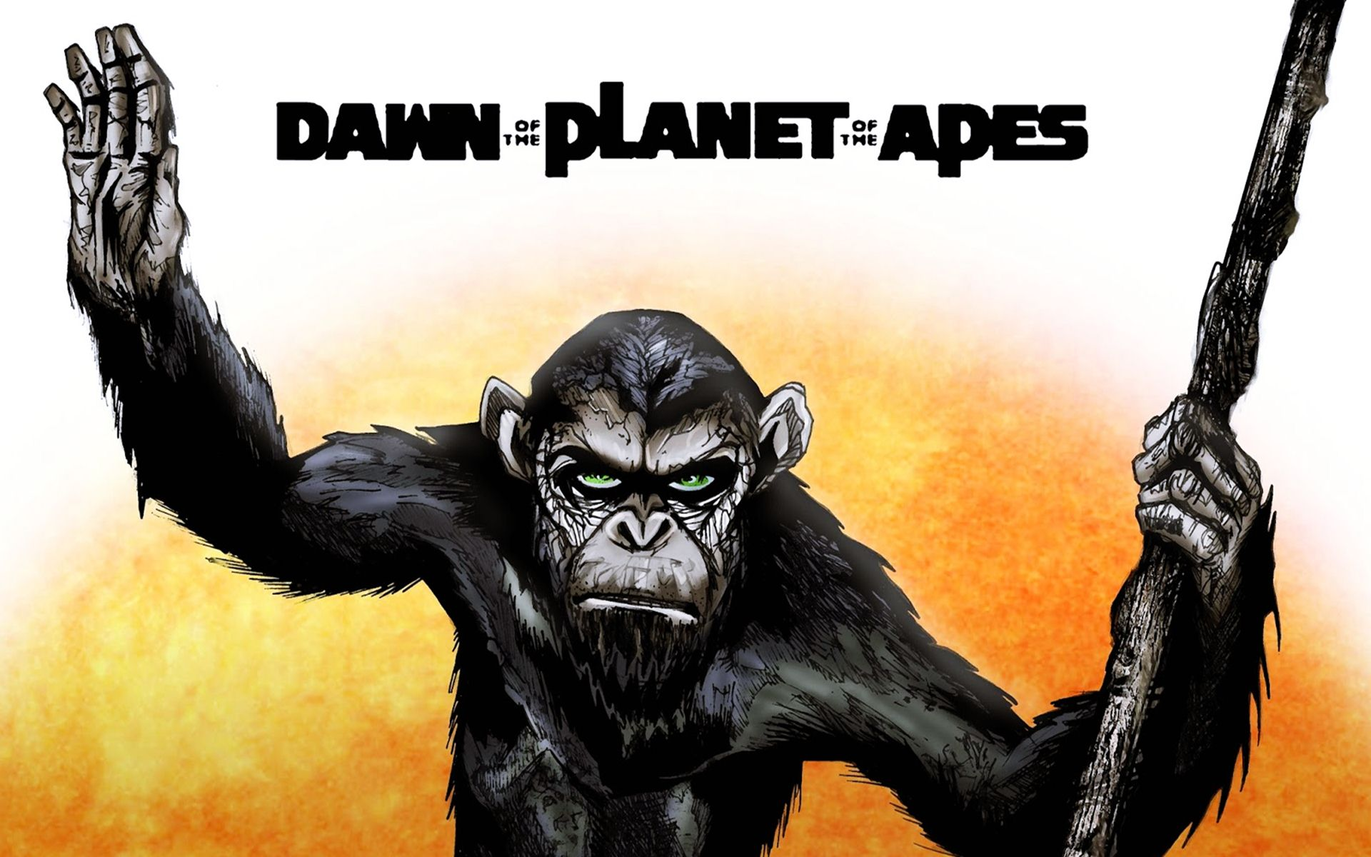 Pics-Dawn-Planet-Apes-Caesar-Cartoon-Wallpaper